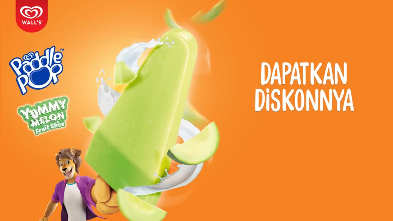 Walls-Indonesia-Segarnya-Paddle-Pop-Yummy-Melon-Ceriakan-Hari